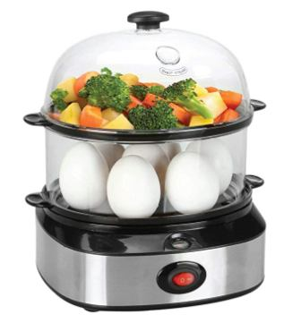 Egg Cooker, PowerDoF ZDQ-702A Multifunctional Dual Layer Electric Egg Cooker