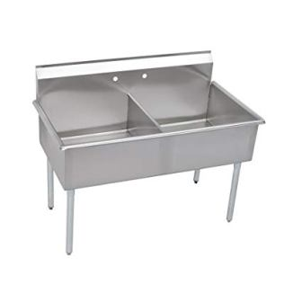 Elkay 2 Compartment Professional Grade Commercial Kitchen Stainless Steel Sink