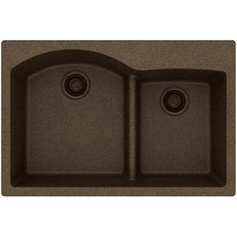 Elkay Quartz Classic ELGH3322RMC0 60/40 Double Bowl Sink