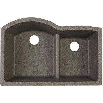 Elkay Quartz Classic ELGHU3322RSL0 60/40 Double Bowl Kitchen Sink with Aqua Divide