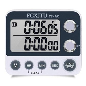 FCXJTU Digital Dual Kitchen Timer