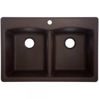 Franke EDDB33229-1 Granite Double Bowl Kitchen Sink, One Size, Mocha