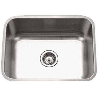 Houzer Eston Series Undermount Single Bowl Kitchen Sink