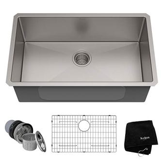 Kraus KHU100-30 Kitchen Sink, 30 Inch, Stainless Steel (Top Pick)