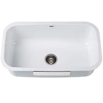 Kraus Undermount Single Bowl Enameled Stainless Steel Kitchen Sink