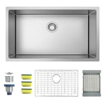MENSARJOR Single Bowl Undermount Kitchen Sink