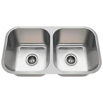 MR Direct Undermount Equal Double Bowl Kitchen Sink
