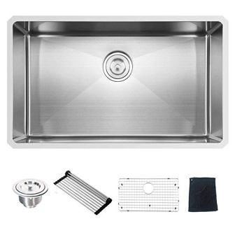 Ufaucet Commercial Undermount Kitchen Sink