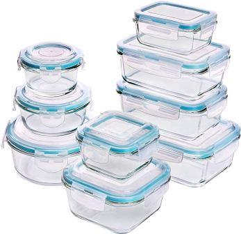 Utopia Kitchen (18-pieces) Glass Food Storage Containers with Lids
