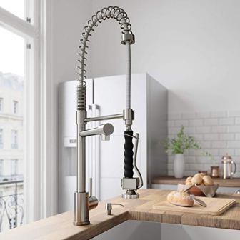 VIGO Zurich Single Handle Pull-Down Sprayer Kitchen Sink Faucet