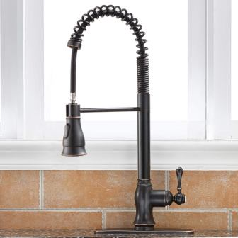 Antique Spring Single-Handle Pull-Down Kitchen Faucet
