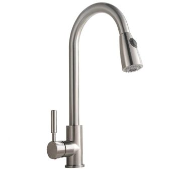 Comllen Commercial Single-handle Pull-down Kitchen Faucet