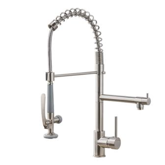 Fapully Commercial Pull-down Kitchen Sink Faucet with Sprayer