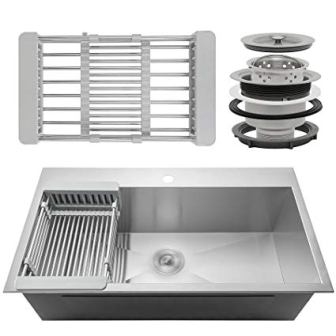 Firebird Single Bowl Top Mount Drop-in Kitchen Sink
