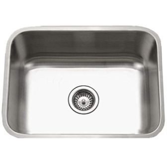 Houzer STS-1300-1 Eston Series Undermount Single Bowl Kitchen Sink