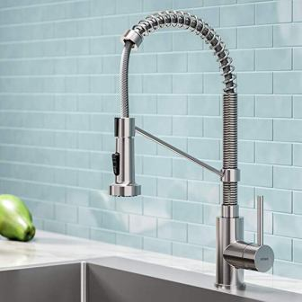 Kraus KPF-1610SS Bolden Single-Handle Commercial Kitchen Faucet with Dual Function