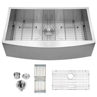 Logmey LMA3320 Farmhouse Apron Stainless Steel Kitchen Sink