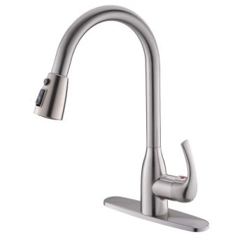 VALISY Lead-free Modern Commercial Pull-down Sprayer Kitchen Sink Faucet