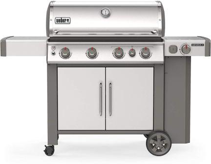 Weber 62006001 Genesis II S-435 4-Burner Liquid Propane Grill, Stainless Steel