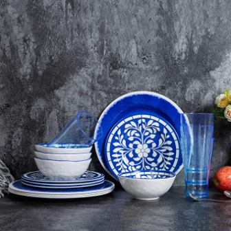16 pcs Melamine Dinnerware Set for 4