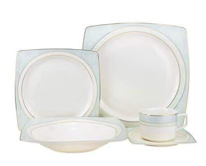 Euro Porcelain 24K Gold-plated Luxury Bone China Dinnerware Set