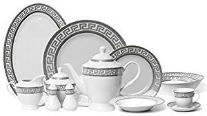 Euro Porcelain 57-pc Banquet Dinnerware Set