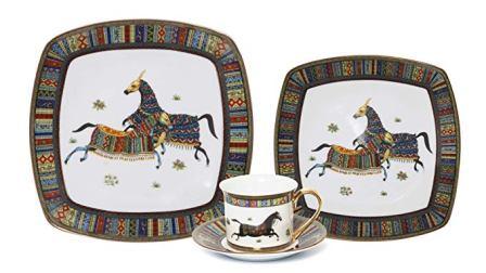 Euro Porcelain Banquet Luxury Bone China Dinnerware Set