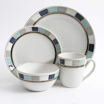 Gibson Casa Blanca Reactive Glaze 16-pc Dinnerware Set