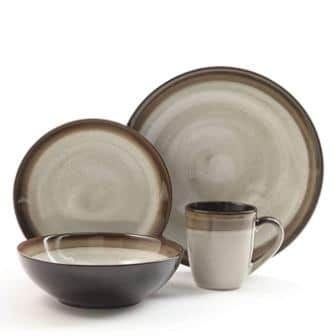 Gibson Elite Couture Bands 16-Piece Dinnerware Set