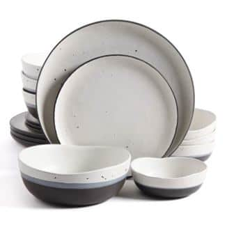 Gibson Elite Rhinebeck 16 Piece Double Bowl Dinnerware Set
