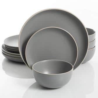 Gibson Home Rockaway 12-piece Dinnerware Set