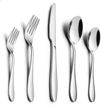HaWare Polished Modern Stainless Steel Flatware Set