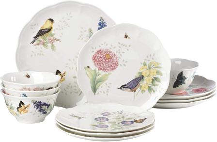 Lenox Butterfly Meadow Flutter 12 Piece Dinnerware Set
