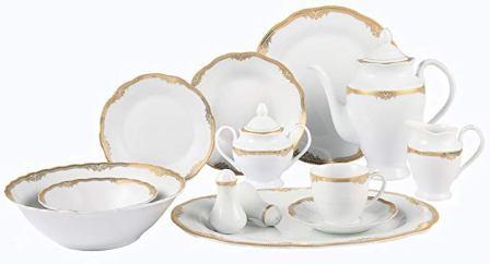 Lorenzo Import Catherine Wavy Porcelain Dinnerware Set
