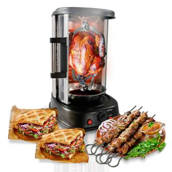 NutriChef Countertop Vertical Rotating Oven