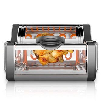 NutriChef Digital Countertop Rotisserie Oven