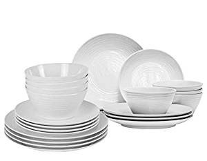Parhoma White Melamine Home Dinnerware Set