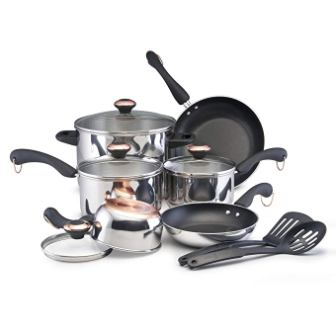 Paula Deen Stainless Steel Signature 12-piece Cookware Set