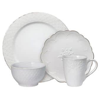Pfaltzgraff French Lace White Dinnerware Set