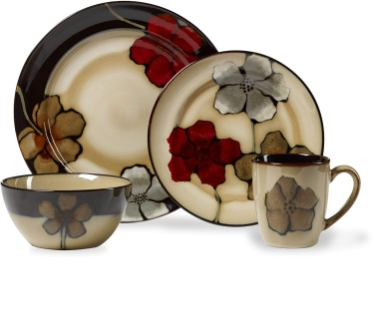 Pfaltzgraff Painted Poppies Stoneware Dinnerware Set-Pfaltzgraff