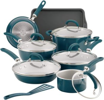 Rachael Ray Create Delicious 12144 Nonstick Cookware 13 Piece Pots and Pans Set