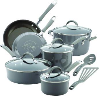 Rachael Ray Cucina Aluminum Nonstick 12-Piece Cookware Set
