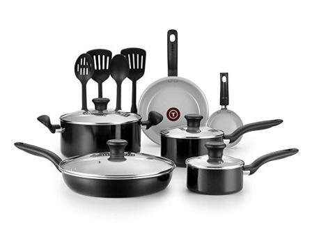 T-fal Initiatives 14-piece Ceramic Cookware Set