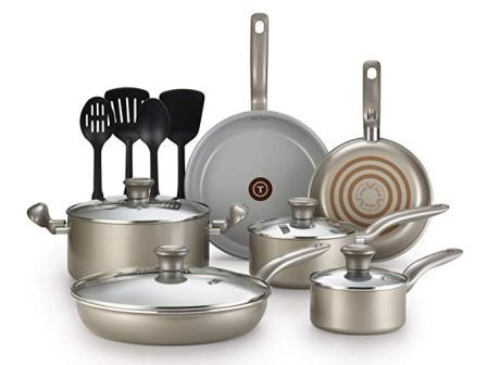T-fal Initiatives G919SE64 Ceramic Non-stick Cookware Set