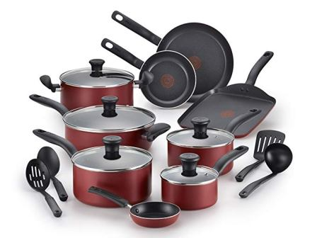 T-fal Initiatives Non-stick Inside and Out B209SI Oven Safe Cookware Set