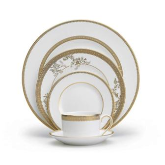 Vera Wang Wedgwood Lace Gold 5-piece Dinnerware Set