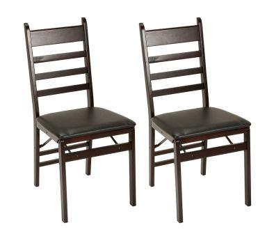 Cosco Espresso Wood Folding Chair