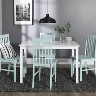 Accent Furnishings Five Pieces of Chic Dining Set with a Table and Four Chairs