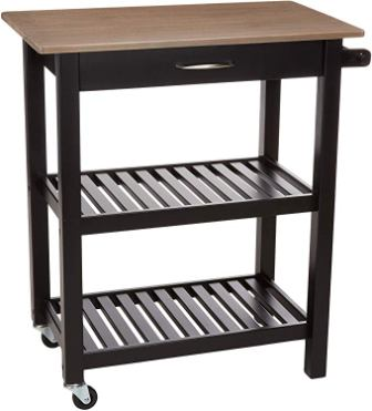 AmazonBasics Multifunction Rolling Kitchen Cart