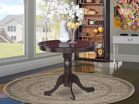Antique pedestal table from East West Furniture